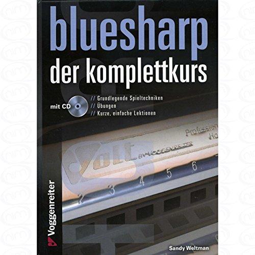 Blues Harp - der Komplettkurs - arrangiert für Mundharmonika - mit CD [Noten/Sheetmusic] Komponist : Weltman Sandy