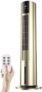 YJFENG-Aire Acondicionado Portátil Ventilador De Torre Giratoria Humidificación Y Purificación del Aire Pantalla Automatica Doble Tanque De Agua Minutero Doble Filtración,75W