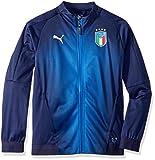 PUMA Boys' Big FIGC Italia Stadium Jacket Kids, peacoat team power blue, L