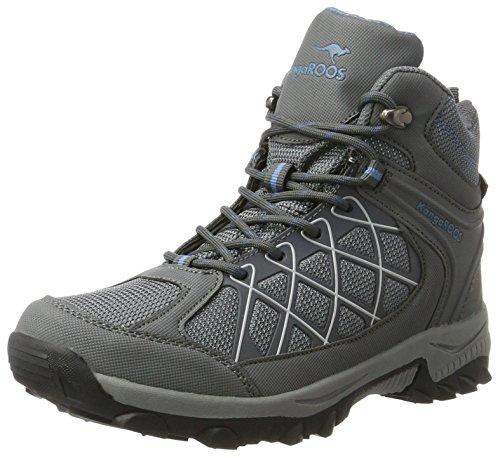 KangaROOS Unisex-Erwachsene Loop HI Hohe Sneaker, Grau (Steel Grey/Faded Blue), 38 EU