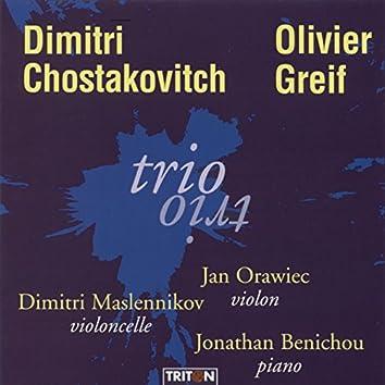 Shostakovich: Trio No. 2, Op. 67 & Olivier Greif: Trio