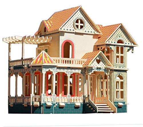 NWFashion Wooden Dream Dollhouse DIY Kits Miniature Doll House (Hawaii Villa)