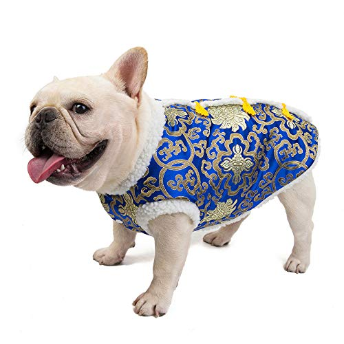 HCBDQQ Hund Neujahrskleidung Hundekleidung Hundekleidung Haustierkleidung Warme Winterkleidung