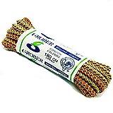 GROBER 1 Par Cordones Redondos de Bota Montaña Zapatos Senderismo 5mm Patin Multicolores Rayas Resistente y Fuerte Unisex (marron/naraja/beig)