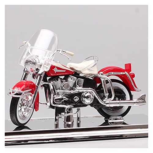 El Maquetas Coche Motocross Fantastico 1:18 para Harley 1962 FLH Duo Glide Simulación Aleación Modelo Motocicleta Adornos Colección Adultos Regalo Coche De Juguete Regalos Juegos Mas Vendidos