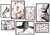 KAIRNE 7er Set Rosen Poster,Moderne Poster Set,Premium Set