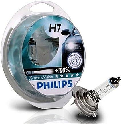 H7 Philips X-Treme Vision + 100% Bombillas (par)