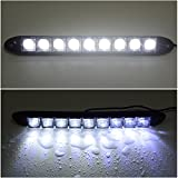 XCSOURCE® 2X 9 LED Impermeable Car DRL Lámpara Redonda 12V Daytime Running Light MA136