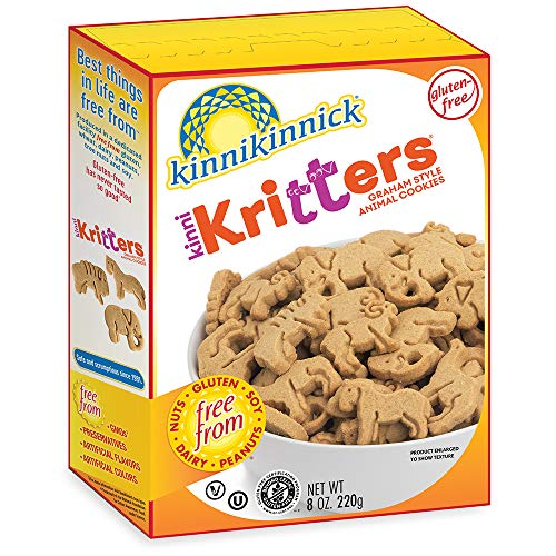 Kinnikinnick KinniKritters Gluten Free Graham Style Animal Cookies, 8oz/220g (Pack of 6)
