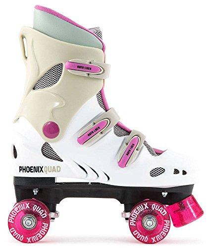 Junior Quad Inline Skates - Pheonix - Purple/White - Size 4