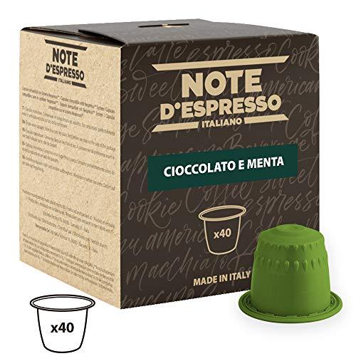 Note D'Espresso Kapseln Schokolade und Minze, 7g x 40 Kapseln ausschließlich Kompatibel mit Nespresso*-Kapselmaschinen