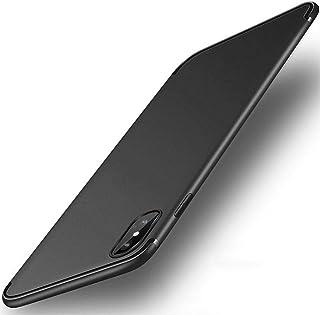 iPhone XS Max ケース【IMANOM】アイフォンxs Maxケース 黒 スリム・薄型ケース ソフト TPU おしゃれ 人気 ストラップホール付き 指紋防止 アイホンxs Max耐衝撃ケース ブラック