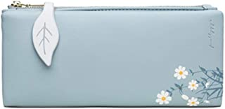 Ladies Purse, Pu Leather Wallet For Women,Two-Fold Soft Leather Thin Multifunctional Clutch With Multiple Card Slots And C...