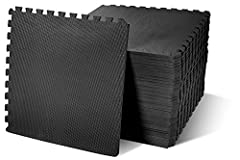 """Item comes with 36 tiles and 72 end borders, covers 144 square feet. Each tile measures 24""""x24""""x1/2"""" With double sided high density EVA foam non-slip surfaces, the 1/2'' thick premium mat comfortably cushions spine, hips, knees and elbows on hard flo..."""