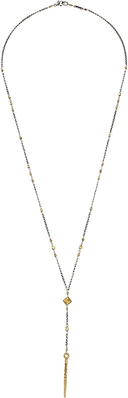 Chan Luu - Gold Mix Lariat Necklace