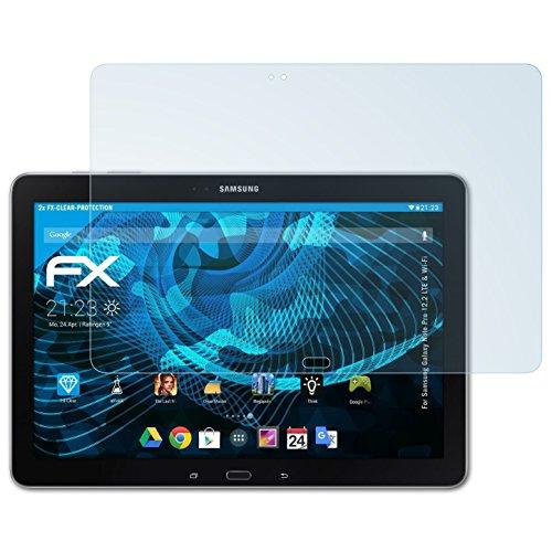 atFolix Schutzfolie kompatibel mit Samsung Galaxy Note Pro 12.2 LTE und Wi-Fi Folie, ultraklare FX Bildschirmschutzfolie (2X)
