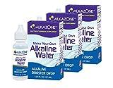 Alkazone Make Your Own Alkaline Water | 1 Pack Makes 20 Gallon of Alkaline Water | Alkaline Booster Drop | 3 Pack 1.25 Oz |