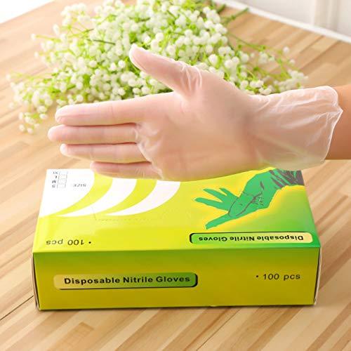 Zarupeng 100PC Transparente Handschuhe, Praktische tragbare Handschuhe Dünne Silikonhandschuhe wasserdichte Outdoor-Handschuhe (XL, Weiß)