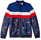 Tommy Hilfiger Boys' Adaptive Track Jacket with Magnetic Buttons, Peacoat, XS