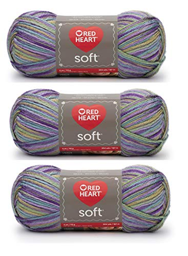 Red Heart E728-9941 Red Heart Soft Yarn - Watercolors