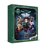 Caja ciega Anime Demon Slayer, 16 Productos fijos de la Serie Anime + Aleatorio 4 de 8 Personajes de Anime Insignias de Metal