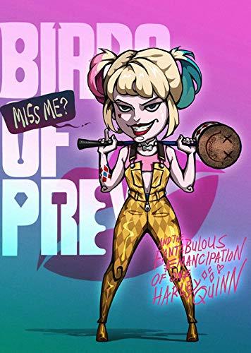 H/H Raptor Clown Harley Quinn Personalidad HD Poster DIY Lienzo Mural Artista Dormitorio Familiar Pintura Al Óleo Pintura Decorativa Sin Marco 50X70Cm 10083L