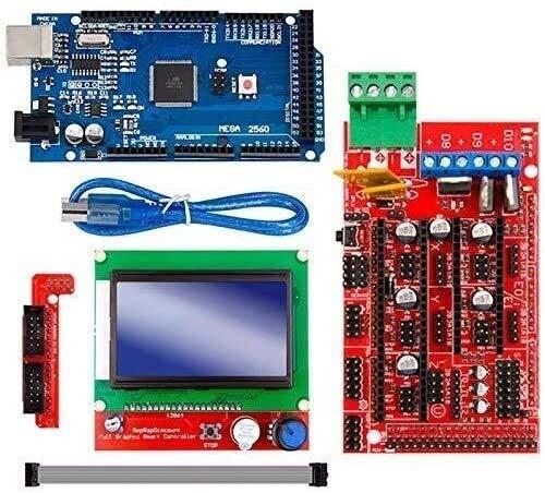 GzxLaY 3D Printer Mega 2560 R3 Mega2560 Rev3 +Ramps 1.4 Controller +Ramps1.4 LCD 12864 LCD for 3D Printer Kit