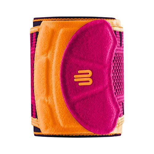 """Bauerfeind Handgelenk Bandage """"Wrist Strap"""", 1 Handgelenkbandage für Sport wie Fitness, Kraftsport und Crossfit, Für Frauen – Stabilisierend & Schützend, Pink, S/M"""