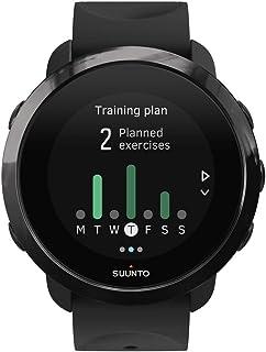 Suunto SS050020000 3 Fitness - Reloj Multideporte con GPS y pulsómetro incorporado, Pantalla Matricial, Unisex Adulto, Negro/Negro (All Black), Talla Única