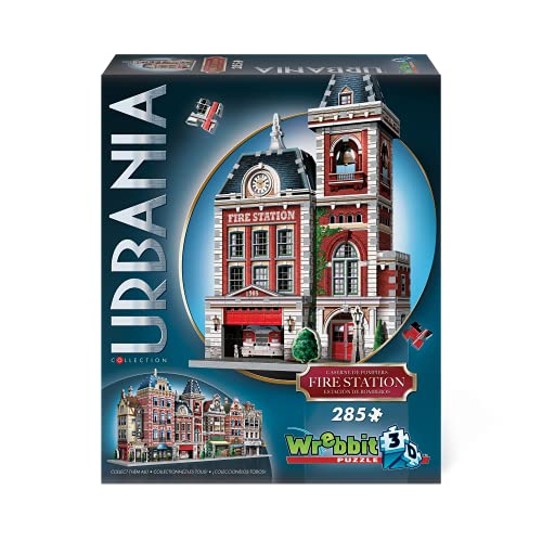 WREBBIT 3D Urbania Collection Fire Station 3D Jigsaw Puzzle (285 pieces) (W3D-0505)