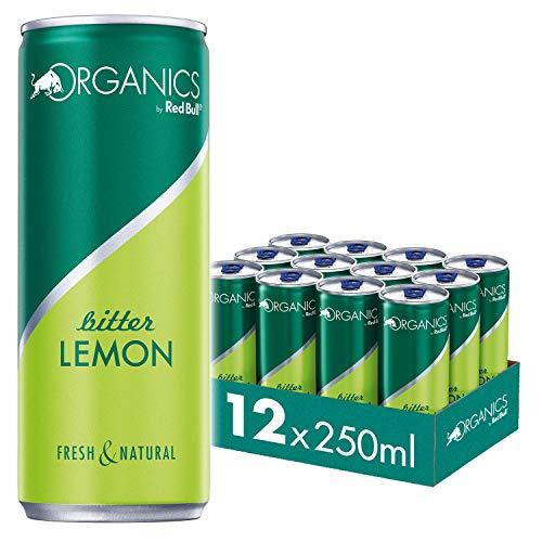 Organics by Red Bull Bitter Lemon Dosen Bio, 12er Palette, EINWEG (12 x 250 ml)