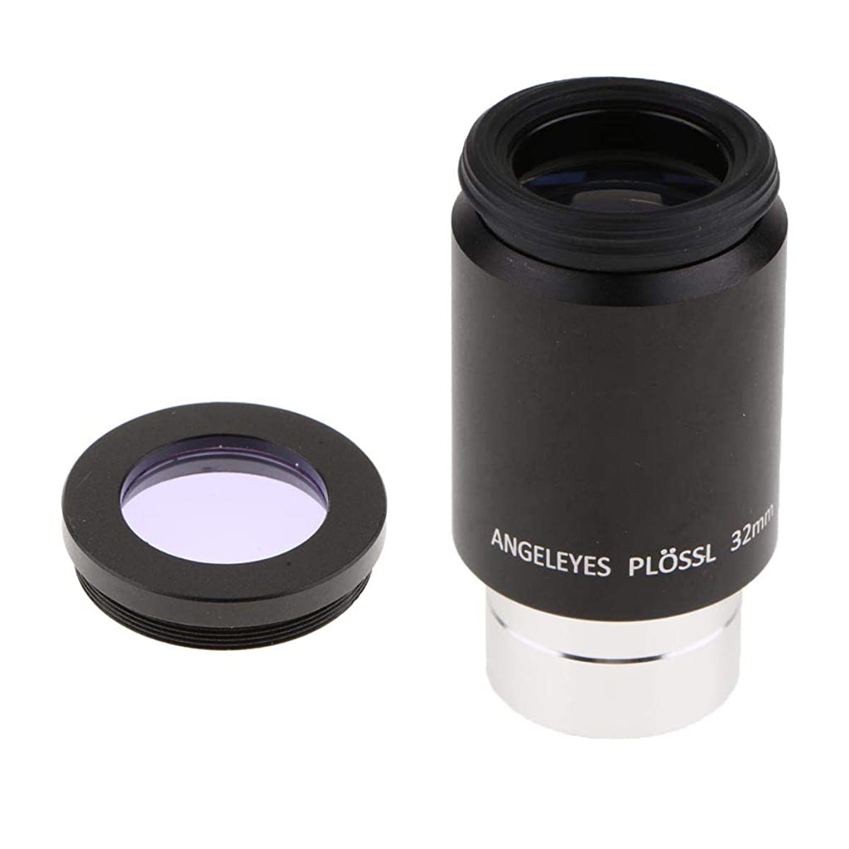 SM SunniMix 1.25'' Astronomy Telescope Lens Eyepiece Plossl PL 32mm 52 Degree Wide View Multi-Coated Film with Moon Filter Purple Planet Observation Tool Kit