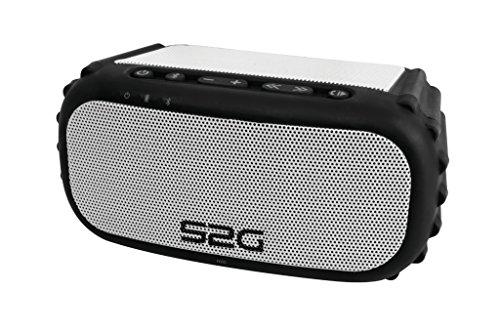 S2G SOUNDBLOQ von SOUND2GO - 2 x 3 Watt Stereo-Bluetooth-Lautsprecher für den Outdoor-Einsatz mit IP 67 - Zertifizierung, Mediaübertragung per Bluetooth und AUX-In – schwarz