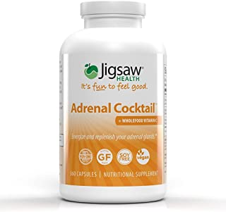 Sponsored Ad - Jigsaw Health - Adrenal Cocktail Capsules with Whole-Food Vitamin C, Potassium, and Redmon's Real Salt. Sup...