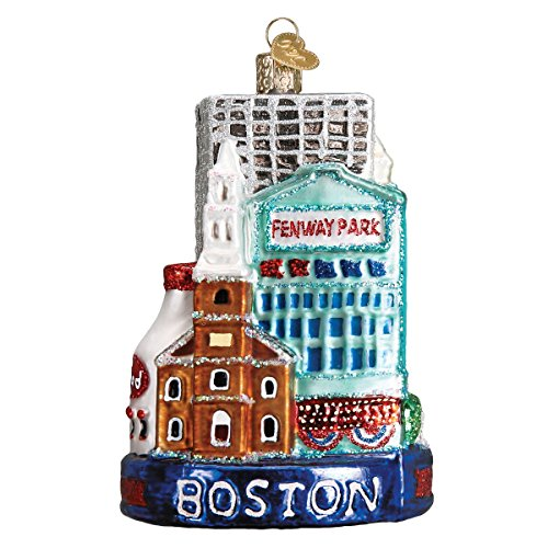 Old World Christmas Glass Blown Ornament Boston City (20094)