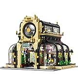 ColiCor Modelo de Construcción de Bloques con luz 2147Pcs Jardín Botánico Edificios de Juguete Construcción Edificio de Ladrillos Conjunto de Bloques, Compatible con Lego