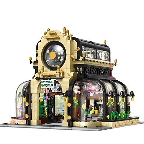 xSuper Juegos de construcción modulares 2147pcs DIY arquitectura Modelo Kit MOC Construcción Regalo Esquina Jardín Botánico con Luz Compatible con Lego