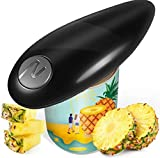 Electric Can Opener, Tin Opener with One Touch Switch, Hand Free Can Opener, Kitchen Restaurant Chef's Best Choice-Powerful, Safe & Easy(Black)[Energy Class A]