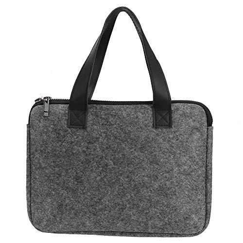 Changor Bolsa de Transporte Gris de iPad, Fieltro 14 * 10cm Bolsa de Almacenamiento Caja de Manga para portátil
