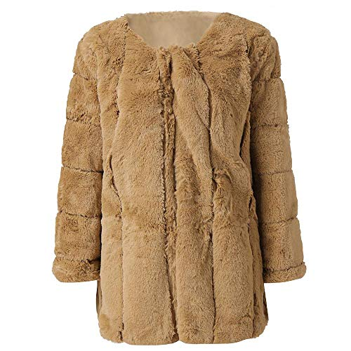 nobrand Mode Faux Pelzmantel Frauen Plus Size 5XL Short Faux Coat Warme Pelzjacke Langarm Oberbekleidung Kleidung