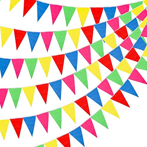 ROPPYAR Multicolor Pennant Banner Bunting Flags for Party Decorations, Birthdays, Festivals, Christmas Decorations (200Pcs)