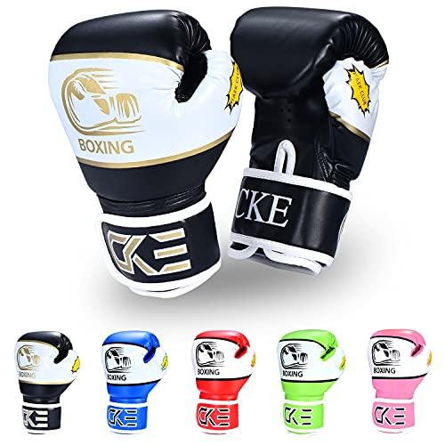 CKE Kinder Boxhandschuhe für Kinder Jungen Mädchen Jungen Jungen Jugendliche Toddlers Alter 5-12 Jahre Trainingshandschuhe für Boxsack Kickboxing Muay Thai