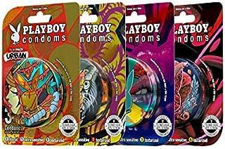 Playboy Condoms Colección Urban 4 latas con 3 condones c/u