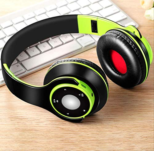 Wireless Headphones, Bluetooth 5.0 Sport And Sd Card With Microphone Hifi Stereo Headset On The Phone Green