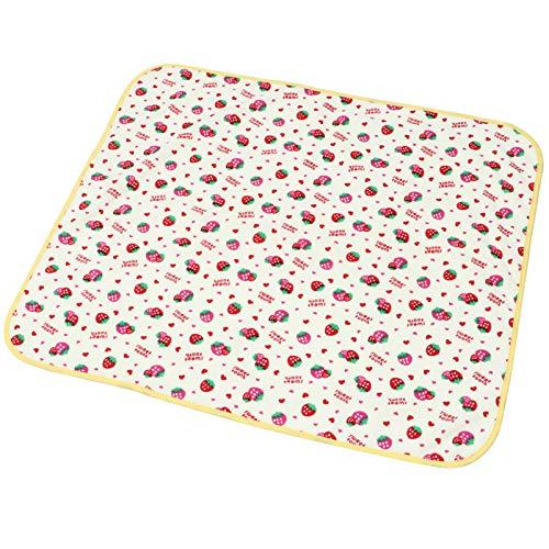 NUOBESTY Cambiador de pañales para bebé, almohadilla de incontinencia para cama de 27.5 x 23.5 pulgadas, impermeable, lavable, suave, de algodón, para cama, niños, ancianos, mascotas, estilo 2