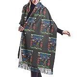 Yuanmeiju Bufanda larga de moda para mujer Winchester Bros Hire Supernatural Classic Comic Ladies Soft Large Cashmere Blend Scarf Warm Cashmere Skirt Elegant Shawl Wrap