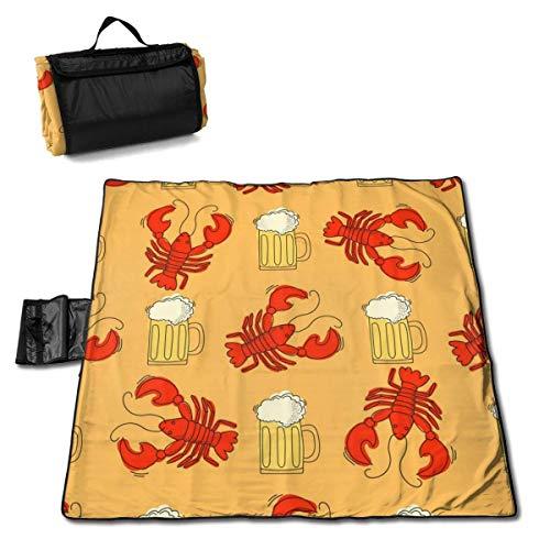 End Nazi Bier und Langusten extra große Stranddecke Picknickmatte