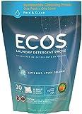 Earth friendly Products Ecos Laundry Powder pods Fragrance free (confezione da 1, totale 20cialde)
