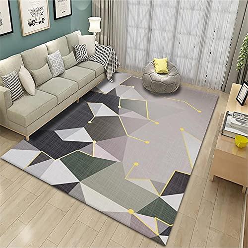 Kunsen Impreso Abstracto geométrico Sala de Estar Dormitorio salón Animal Alfombra Corta Pelo Corredor alfombras Redondas Baratas alfombras Pelo Corto Alfombra de Pasillo Gris Alfombra infa160X230CM