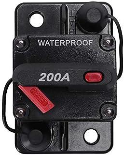 PYROJEWEL 12V/24V Car Marine Audio Fuse Holder 200A Manual Reset Circuit Breaker Tools